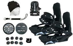 Symbolic 1 Strap Snowboard Bindings+Leash+Hat+Burton 3D fits