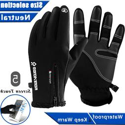 -10℃ Ski Gloves Zipper Winter Sports Thermal Touch Waterpr
