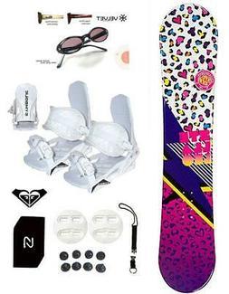 144cm Stella Leo Snowboard +Bindings Package Leash+Stomp+Sha