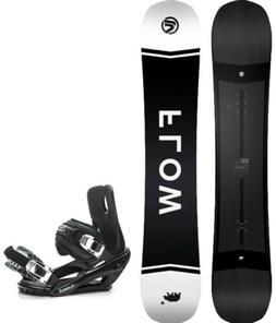 2021 FLOW Gap 159 WIDE Snowboard+Bindings NEW SHAPE!