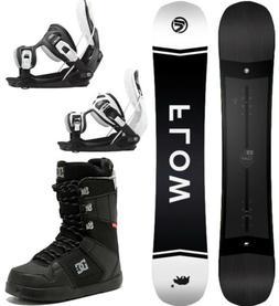 2021 FLOW Gap 162 WIDE Mens Snowboard Package+Flow Bindings+