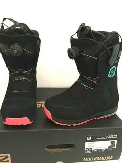 $259 Salomon Ivy Boa Str8jkt SJ Womens Snowboard Boots Size