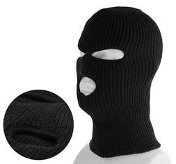 3 Hole Full Face Ski Mask Winter Beanie Balaclava Hood Tacti