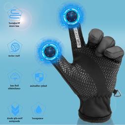 -10℃ Waterproof Winter Ski Gloves Touch Screen Warm Mitten