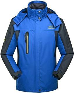 4How Mens Sports Ski Waterproof Snowboard Hooded Jacket Coat