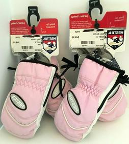 $50 Hestra Pink Baby Gloves MIttens Size 9 or 12 NWT Winter
