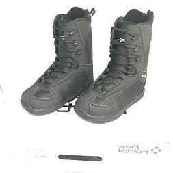 540 Phoenix Men's Snowboard Boots Black  + Free Burton Stick