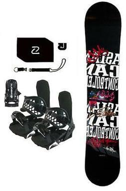 $600 153cm ACC Casino Blem Snowboard+Bindings+Stomp+Leash+bu