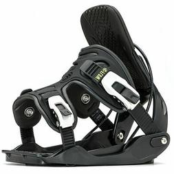 Flow Alpha Snowboard Bindings Large/Charcoal NEW