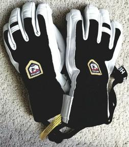 Hestra Alpine Army Patrol Leather Gloves SNOWBOARD SKI size