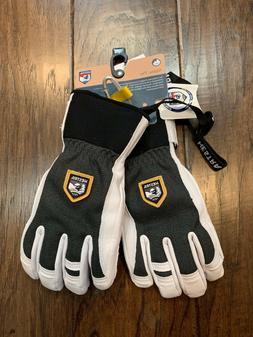 Hestra Alpine Pro Army Leather Patrol Ski Gloves Charcoal Gr