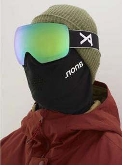 Anon Ski Snowboard MIG MFI Facemask  Sonar Zeiss Green Goggl