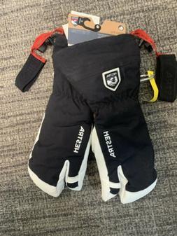 Hestra Army Leather Heli Ski 3 Finger Glove, Mens Sz 9, Blac
