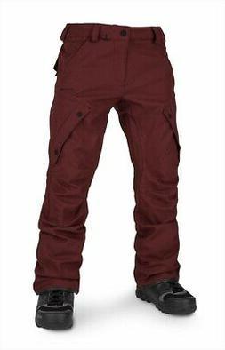 Volcom Articulated Men's Ski & Snowboard Pants L Burnt Red