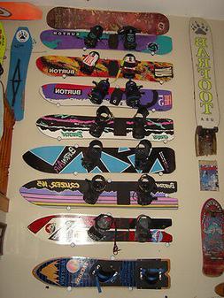 Black Snowboard Hanger Holder Display Ceiling Wall Rack Moun