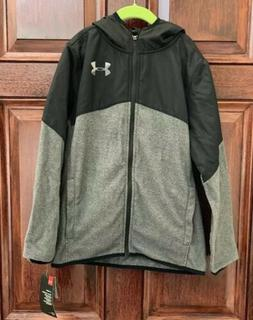 Boys Under Armour Hooded Cold Gear Zip-Up Jacket Size Youth