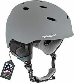 WildHorn Outfitters Drift Snowboard/Ski Helmet Small Stone G