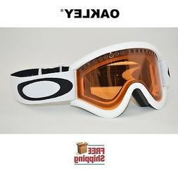 Oakley E-Frame Snow Goggle, Snow Matte White with Persimmon