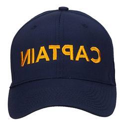 e4Hats.com Captain Embroidered Cap - Navy OSFM