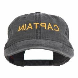 e4Hats.com Captain Embroidered Low Profile Washed Cap For Ad