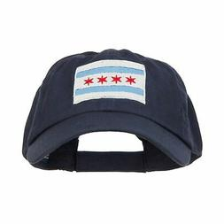e4Hats.com Chicago Flag Embroidered Low Cap One Size Navy
