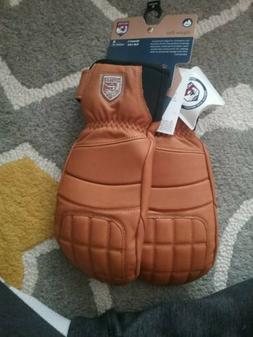 HESTRA Fall Line Leather Snowboard SKI Mitts Womens Large L