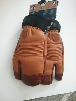 HESTRA Freeride CZONE Leather Snowboard SKI Mitts UNISEX Med