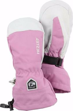 HESTRA JUNIOR HELI SKI MITTEN - PINK - SIZE 7 - NEW WITH TAG