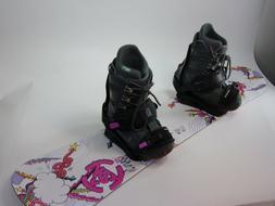 K2 Lil Kandi 128 cm Snowboard with Drake Bindings and Size 8