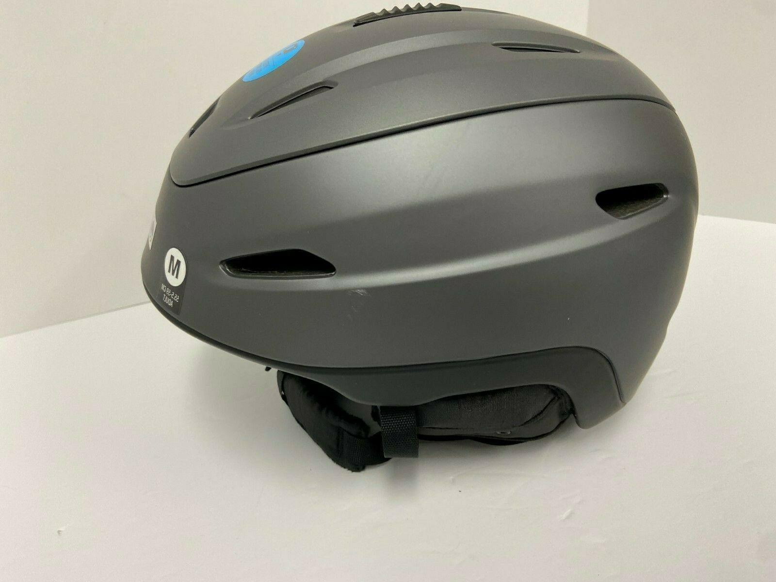 $200 Zone Helmet M Ski Snowboard Gray NWT Construction