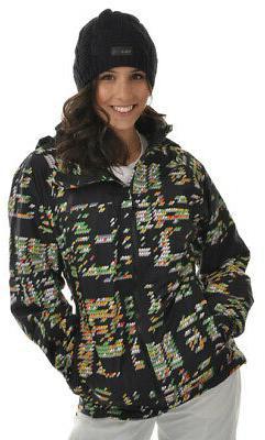 Burton Ak Summit 2L Snowboard Jacket Night Bright Print Wome