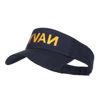 Brand New Navy Embroidered Visor