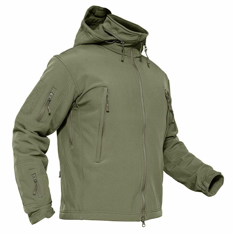 men s waterproof softshell fleece army tactical