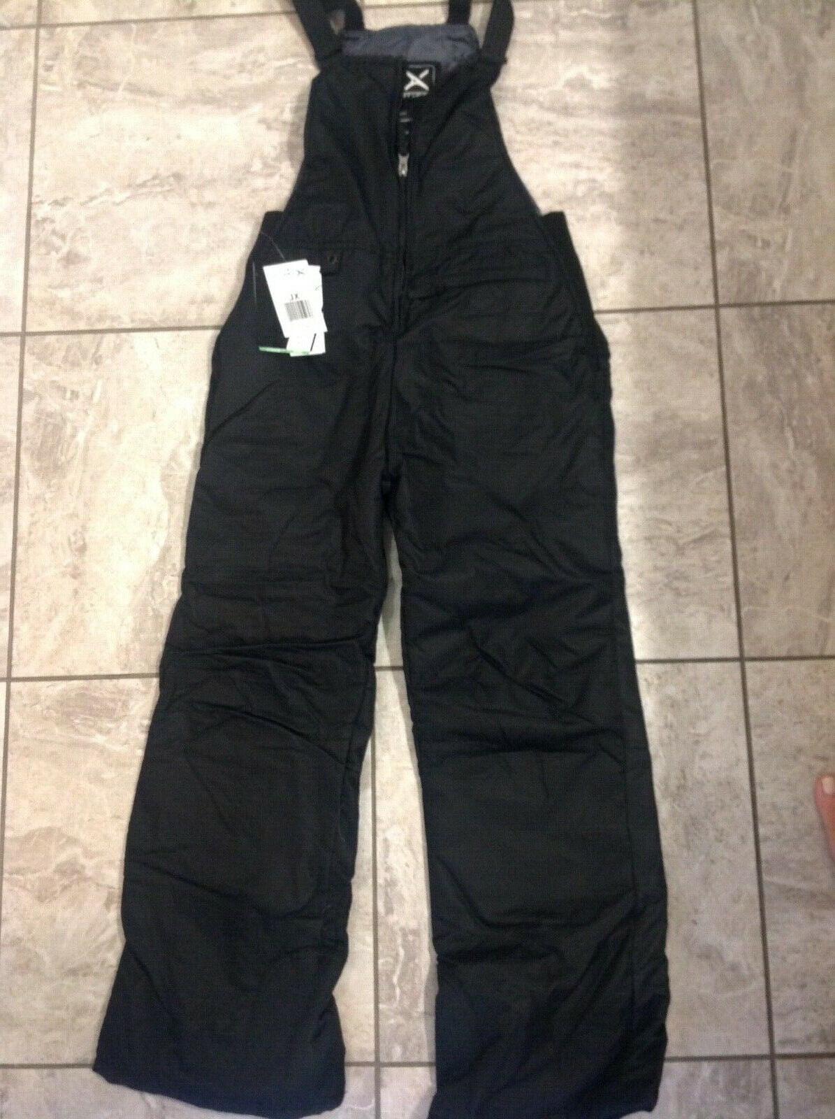 nwt snow pants youth sz xl black