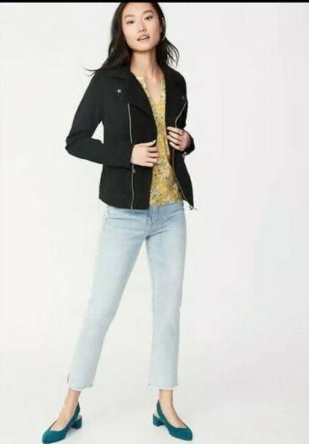 Old Navy Women/'s Black Twill Moto Jacket Size L