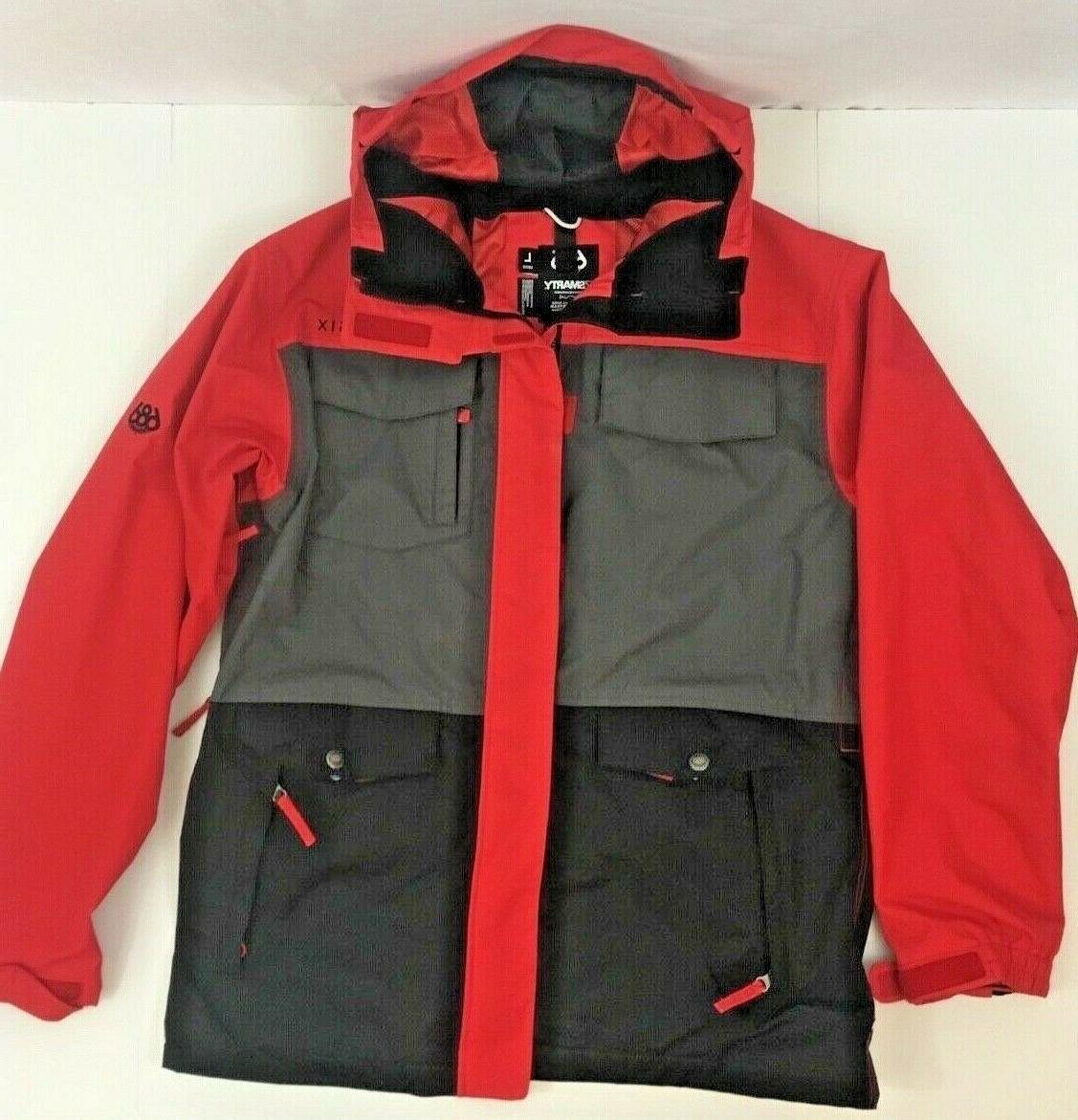 smarty snowboard ski winter hooded jacket mens