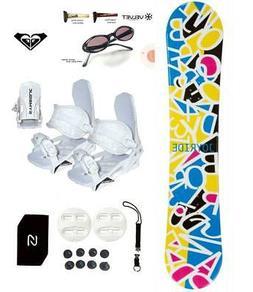 Joyride Letters Snowboard +Bindings Package women Leash+Stom