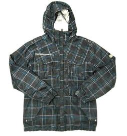 686 Mannual Gray Striped Snowboard Jacket Size Mens Small