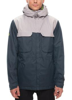 686 Men's Moniker Insulated Jacket in Dark Denim Melange - S