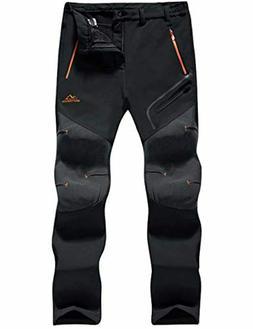 MAGCOMSEN Men's Winter Pants Water Resistant Fleece Lined Sn