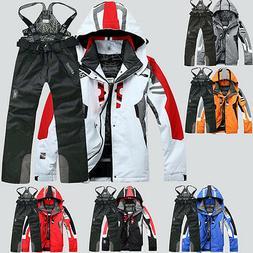 Men's Winter Waterproof Outdoor Coat + Pants Ski Suit Jacket