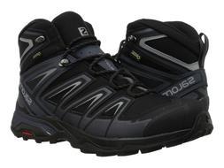 Men's Salomon X Ultra 3 MID GTX Trail Hiking Boots - Black