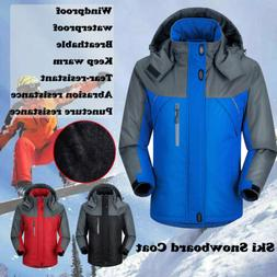 Men Womens Winter Warm Outdoor Jacket Fleece Lined Waterproo