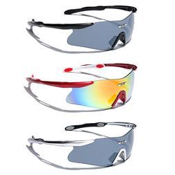 Mens Cycling Biker Sport Shield Sunglasses Ski Snowboard Gog