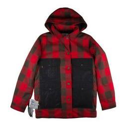 Burton Mens Heritage Field Snowboarding Jacket Red/Black