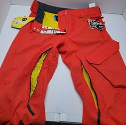 Volcom Mens Red Snowboarding Ventral Pants Size M Brand New