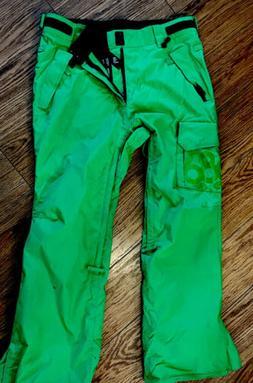 686 mens snowboard pants, M Thermal/waterproof Lime Green
