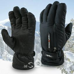 Mens Winter Thermal Warm Waterproof Ski Snowboarding Driving