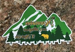 Mountains Sticker - Ski Snowboard Fishing Camping Hiking Col