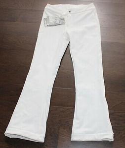 NEW $199 Obermeyer Snowboard Snow Ski Pants WHITE Ladies 8 B
